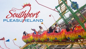 Southport Pleasureland Achterbahn Freizeitpark England