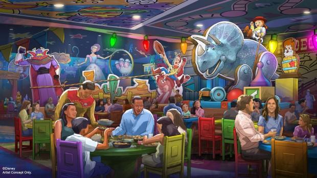 Toy Story-Land Disney Restaurant Entwurf