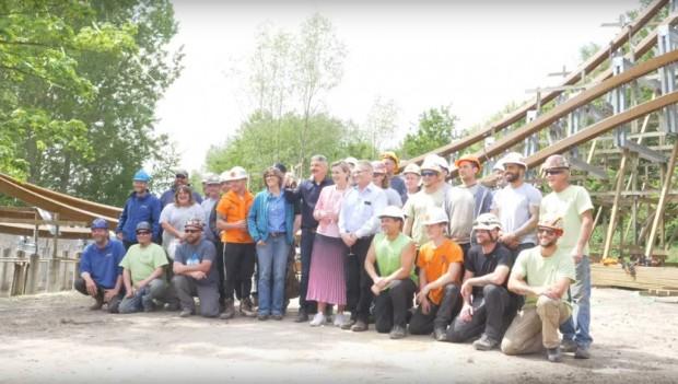 Walibi Holland Untamed neu 2019 Schienenschluss