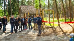 Neues Elchgehege im Wildpark Müden im Mai 2019 nach Sanierung eingeweiht