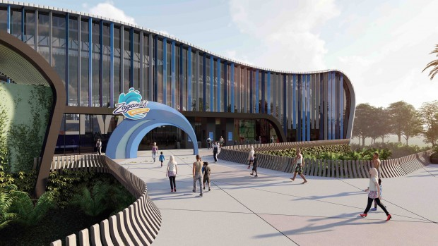 Zagame's Water Park bei Melbourne Frontansicht