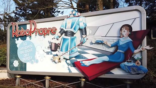 Disneyland Paris Autopia Werbeschild