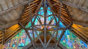 Efteling neue Glasmalerei an Haupteingang 2019