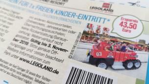 LEGOLAND Deutschland Coupon für freien Kinder-Eintritt 2019 in AUTO BILD