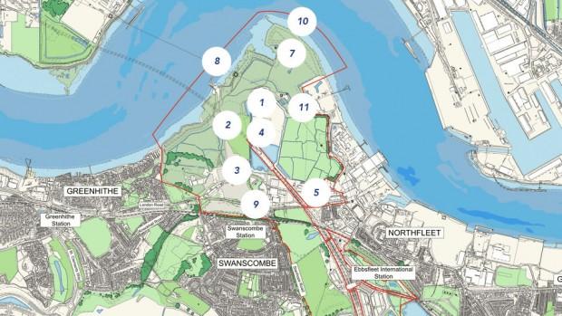 London Freizeitpark-Projekt Bauplan Karte