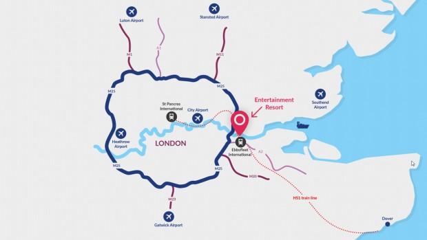 London Resort Lagekarte Park-Projekt