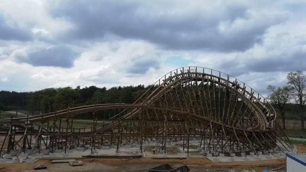Majaland Kownaty neue Holzachterbahn 2019 (Wilkołak/Werwolf)