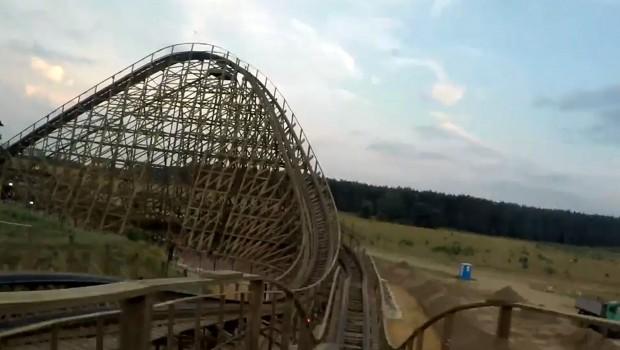 Majaland Kownaty Wilkolak Holzachterbahn POV OnRide