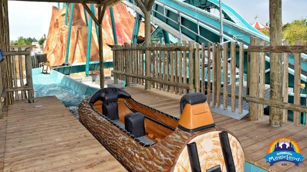 Rainbow MagicLand 2019 Wildwasserbahn Nui Lua Baumstamm-Boot