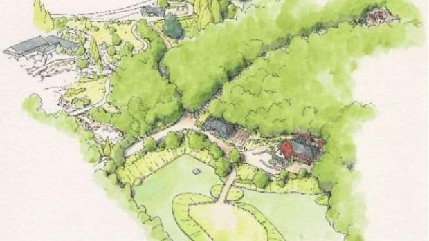"""Studio Ghibli Haus aus """"Mein Nachbar Totoro"""" mit Wald"""