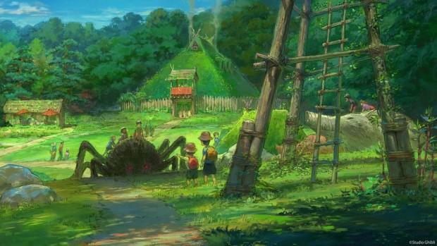 Studio Ghibli Skizze Natur Landschaft
