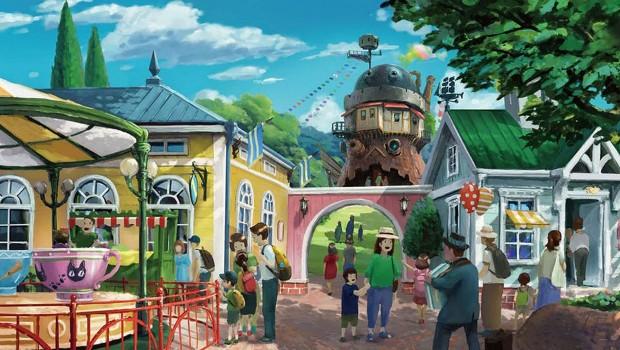 Studio Ghibli Themenpark Entwurf Tal der Hexen mit Karussell
