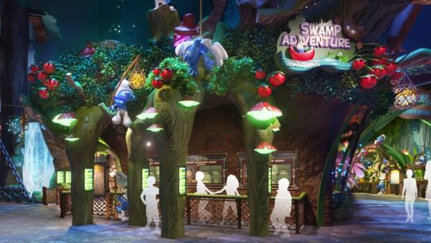 Swamp Adventure Schlümpfe Freizeitpark Shimao Rendering
