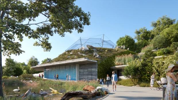 Tiergarten Schönbrunn Aquarium Artwork außen