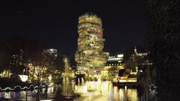 Tivoli Kopenhagen 2019 Pagode Entwurf