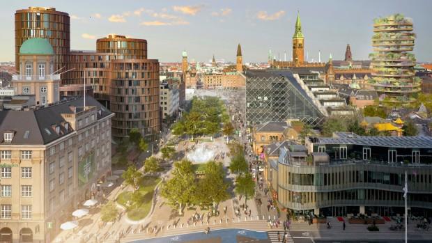 Tivoli Kopenhagen Entwurf Stadtpark autofreie Zone