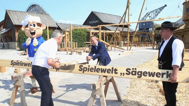 Erlebnispark Tripsdrill Spielwelt Sägewerk Eröffnung