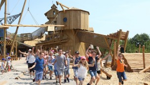 """""""Sägewerk"""" in Erlebnispark Tripsdrill eröffnet: Das bietet die 1.400m² große Spielewelt!"""