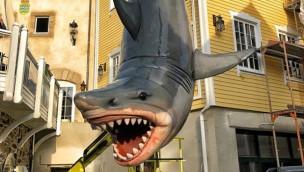 Europa-Park bereitet Fotopunkt in neuem Skandinavischen Dorf vor: Großer Hai kehrt zurück