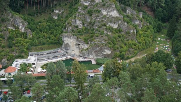 Pottenstein Felsenbad von oben