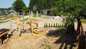 Rodelarena Altenberg errichtet neuen Rutschenturm für Kinder: Aufbau hat begonnen