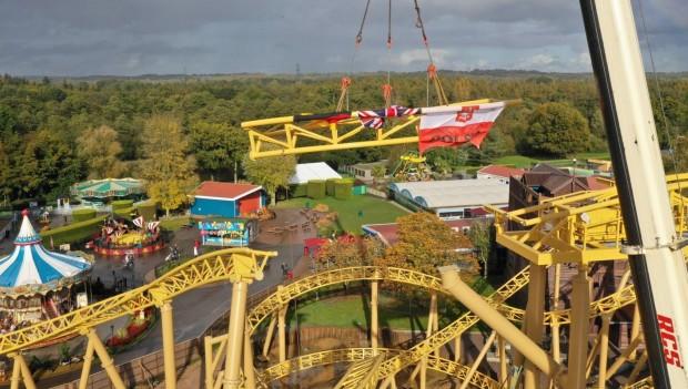 Schienenschluss Paultons Park Spinning Coaster
