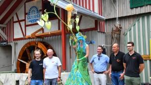 """Neue """"Azura""""-Themenfahrt im Schwaben-Park mit einmaliger Wasser-Inszenierung offiziell eröffnet"""