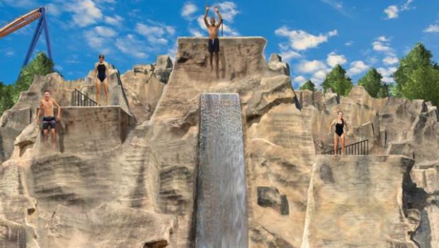 Canada's Wonderland Mountain Bay Cliffs Konzeptzeichnung