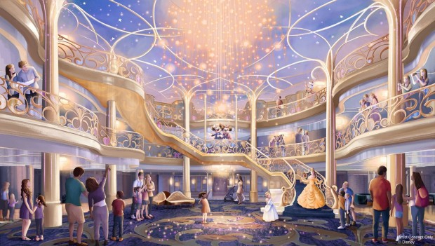 Disney Wish Atrium Artwork