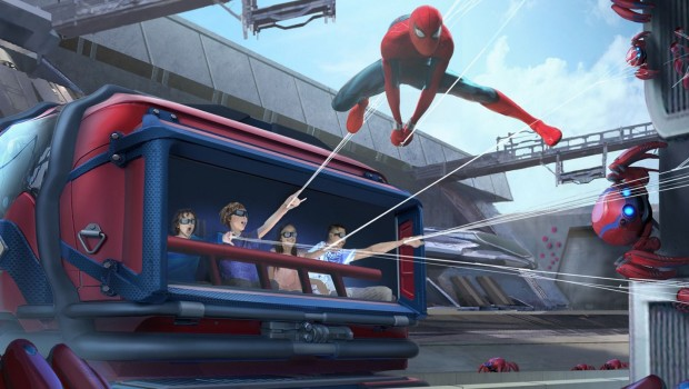 Disneyland paris SPider Man Attraktion Artwork