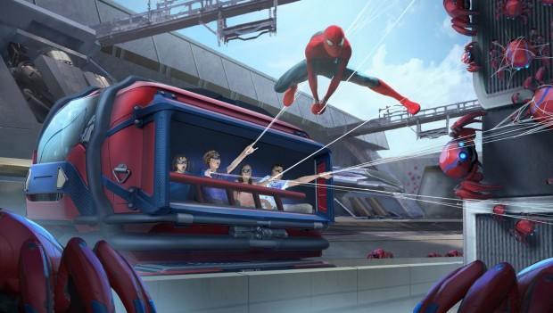 Disneyland Paris Spider-Man Attraktion Artwork SPinnen