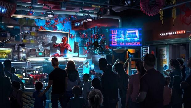 Disneyland Paris Spider-Man Dark RIde Pre-Show Full