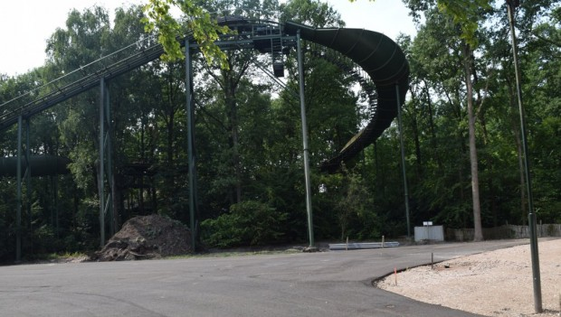 Efteling Max und Moritz Achterbahn neu 2020 Baustelle (Abriss von De Bob)