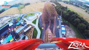 """""""Zadra"""" in EnergyLandia im OnRide-Video erleben: So fährt die größte Hybrid-Achterbahn Europas!"""