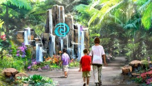 Epcot Journey of Water Artwork (Vaiana-Attraktion)