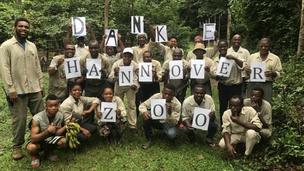 Erlebnis-Zoo Hannover Afi Mountains Team bedankt sich