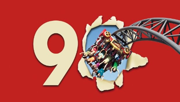 Erlebnispark Tripsdrill Jubiläumslogo (90 Jahre)