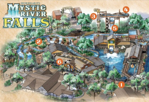 Silver Dollar City Mystic River Falls Layout