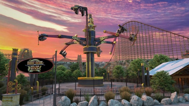 Six Flags Fiesta Texas Daredevil Dive Flying Machines neu 2020 Artwork