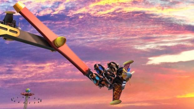 Six Flags Fiesta Texas Daredevil Dive Flying Machines neu 2020 Artwork