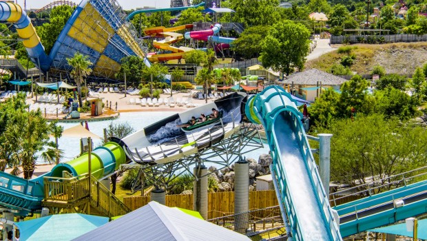 Six Flags Fiesta Texas Thunder Rapids Water Coaster