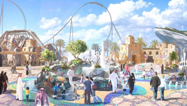 Six Flags Qiddiya Saudi-Arabien Artwork