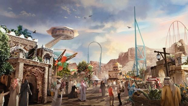 Six Flags Qiddiya Saudi-Arabien Artwork