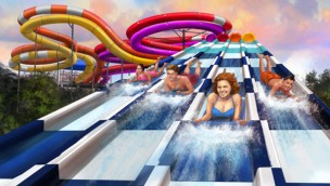 Worlds of Fun 2020 Riptide Raceway Artwork