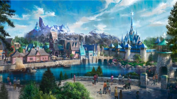 Disneyland Paris neues Frozen Land Artwork