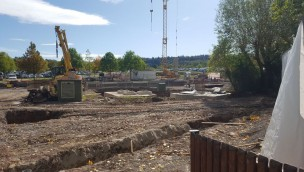 Baustelle für neue Achterbahn im Erlebnispark Tripsdrill wächst: Erste Rohbauten erkennbar