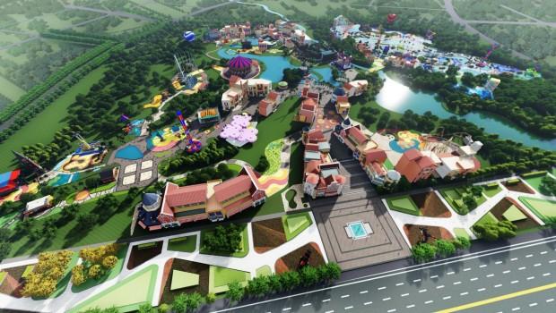 LEGOLAND Sichuan Artwork Luftaufnahme
