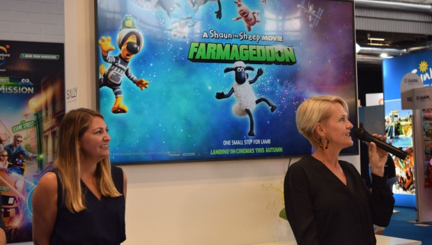 Sally Corporation Shaun the Sheep Movie: Farmageddon Themenfahrt (IAAPA Expo Europe)