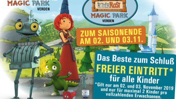 Ritter-Rost-Magic-Park-Verden-Saisonende