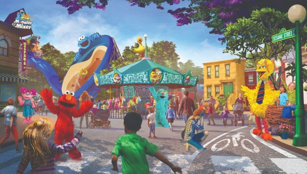 Sesame Place San Diego Elmo Artwork